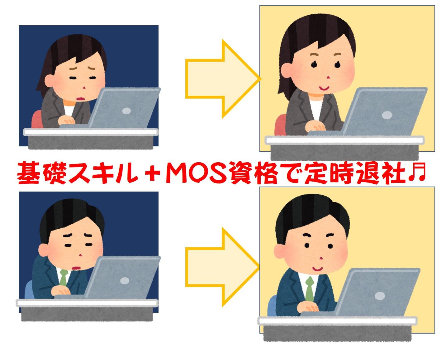 基礎スキルとMOS資格で定時退社♪
